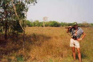 The flat grassland south of the Zambezi Delta