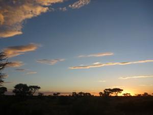 Sundowner time in the Kalahari