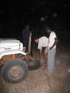 Late night puncture repairs